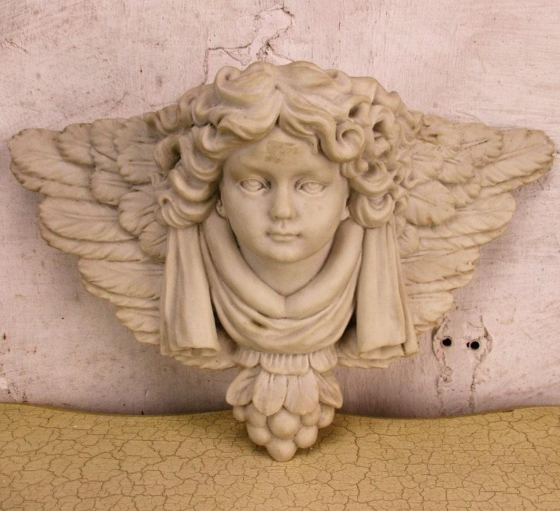 Large Eros Angel Victorian Wall Planter Cherub antique color Vintage Art