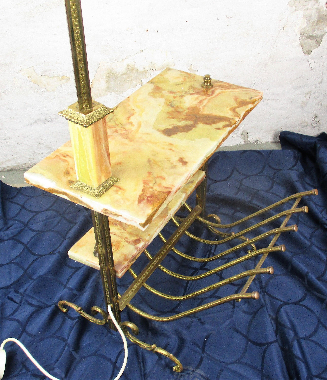 Vintage Grande Lampada Da Terra A Stelo Rivista Regency