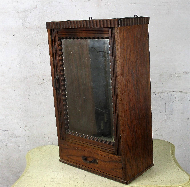 hand carved wood medicine bathroom wall cabinet beveled glass etsy. Black Bedroom Furniture Sets. Home Design Ideas