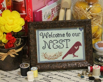 Welcome to Our Nest Cross Stitch Pattern