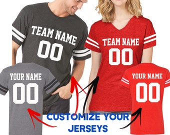 d212781932 Customize Couple Jerseys Tees Shirts Front Back Team and Your Name Number  Create Your Custom Couple