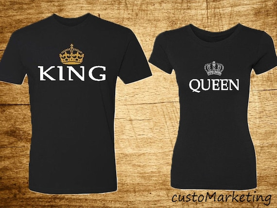 9a50fa9789 King & Queen Couple Matching T-shirts Princess Princess the | Etsy