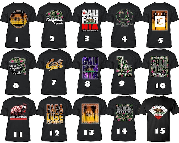CALIFORNIA T-SHIRT GOLDEN STATE SPECIAL CALI LIFE T-SHIRT ALL COLORS TEE S-3XL