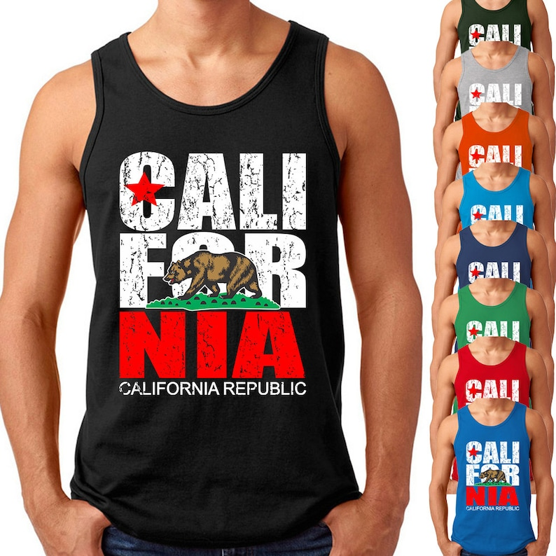 02a7048b3513cc CALIFORNIA Republic Mens TANK TOP Vintage California Tank Cali
