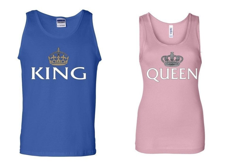 d9aab70b25ac5e King Queen Couple Tank Couple Tank Top Tshirts Black