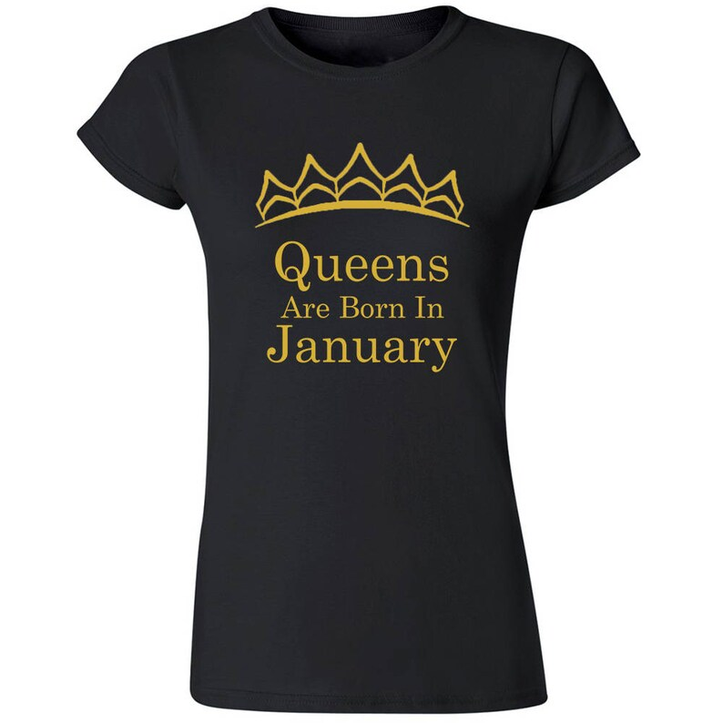 67044cc9eee Tiara Queens Are Born In JANUARY TSHIRT Lady Tee Shirt Best