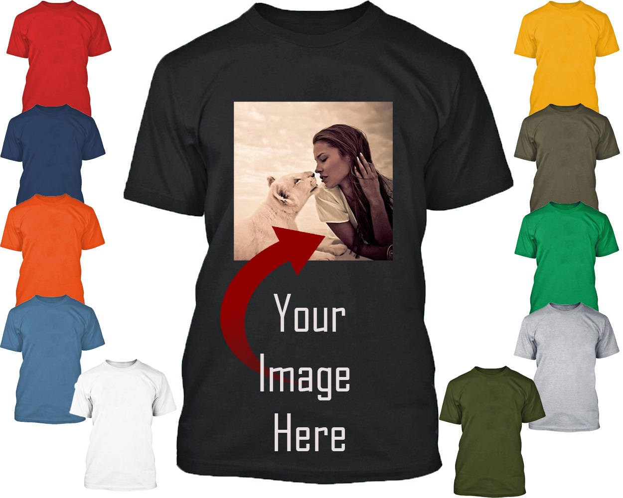 Personal Custom Tshirt Create Your Text Or Logo Make Your Own Etsy
