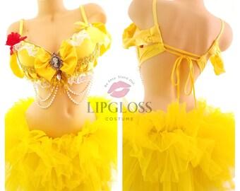 Intimates & Sleep Sexy Yellow Fluffy Rave Costume Tutu Skirt