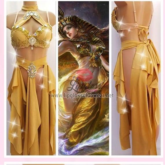 Mermaid Shimmer Dress Greek Goddess or Sexy