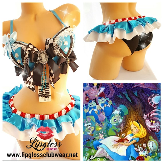 Sexy Alice in wonderland Adult costume rave woman female