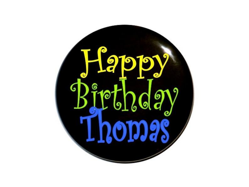9a18fea7a Botón de cumpleaños personalizadas con nombre cumpleaños | Etsy