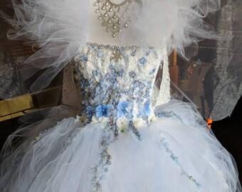 Winter fairy dress fairy costumeWinter snow fairy dresswhite and ice blue fairy costume fairy birthday dress fairy festival costume & Fairy costume | Etsy