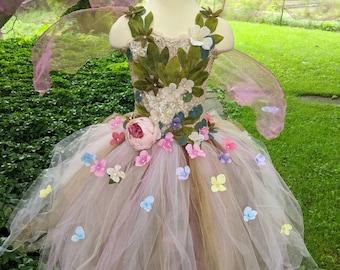 Fairy costume etsy ethereal gaia fairy costume dress woodland fairy dress fairy birthday dress fairy festival dress romantic pink flower girl dress mightylinksfo
