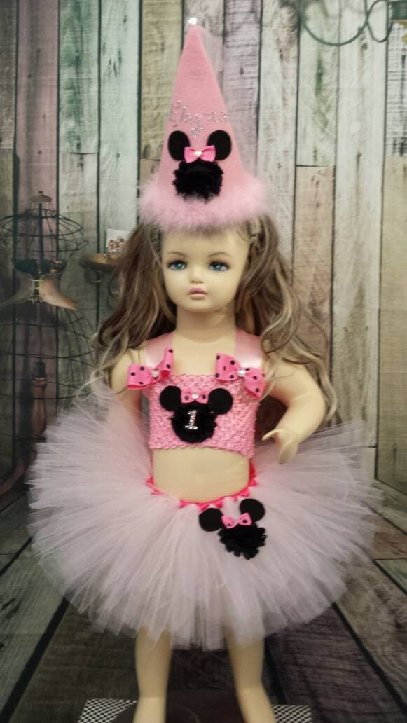 Minnie Mouse First Birthday Tutu Dress 1st With Hat