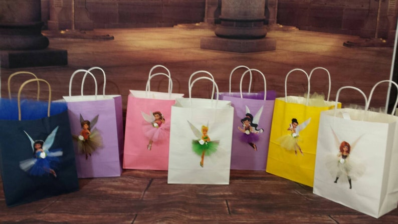 Tinker Bell Party Bags Birthday Decorations Gift Bag