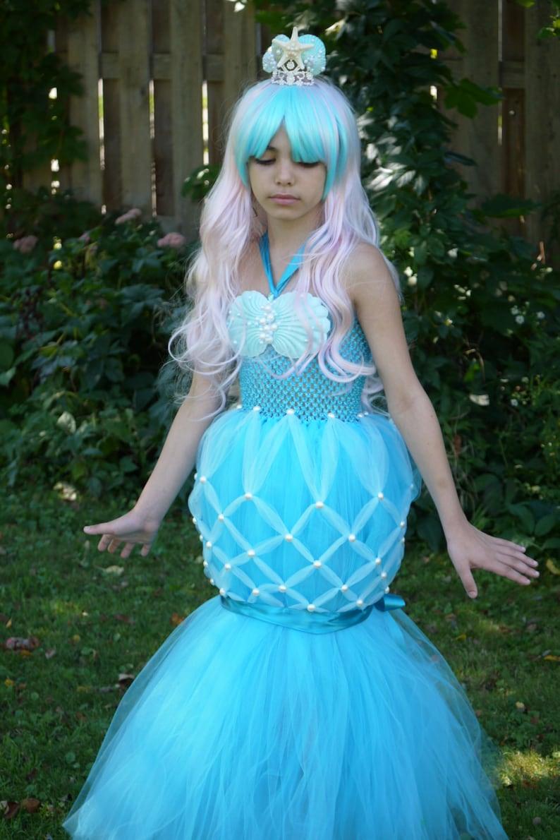 19683c9078e97 Mermaid costume dress Ariel Tutu dress little mermaid tail | Etsy