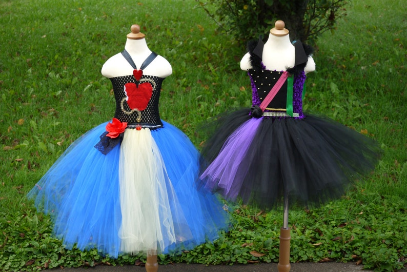 Mal or Evie descendants costume dress  Mal dress, Evie dress, Male Evie  tutu dress, Mal Evie halloween costume, Descendants costume
