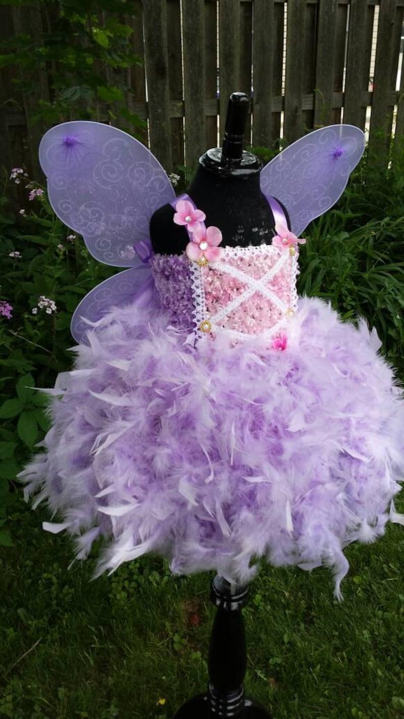 Fairy tutu dress,purple lavender pink fairy tutu dress Fairytale fairy wings,fairy birthday,feather tutu dress,feather dress,fairy costume