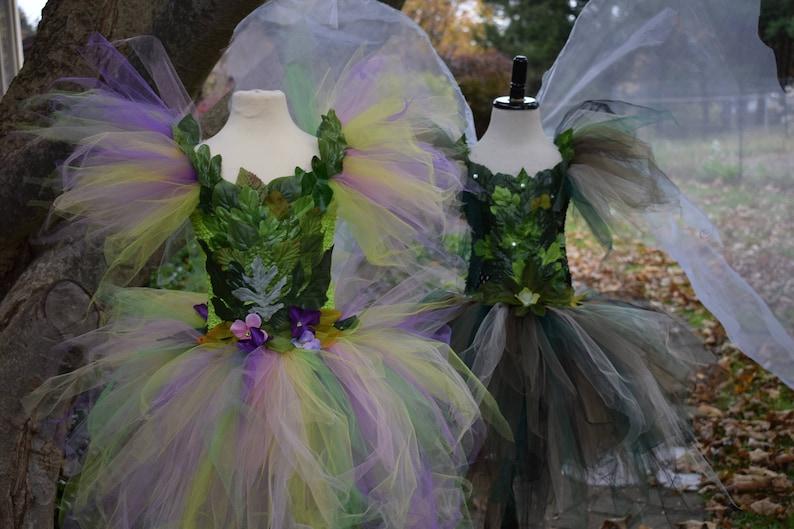 Adult Woodland fairy costume,Green fairy costume ice skating costume dance performance costume theatrical fairy dress,garden  fairy dress