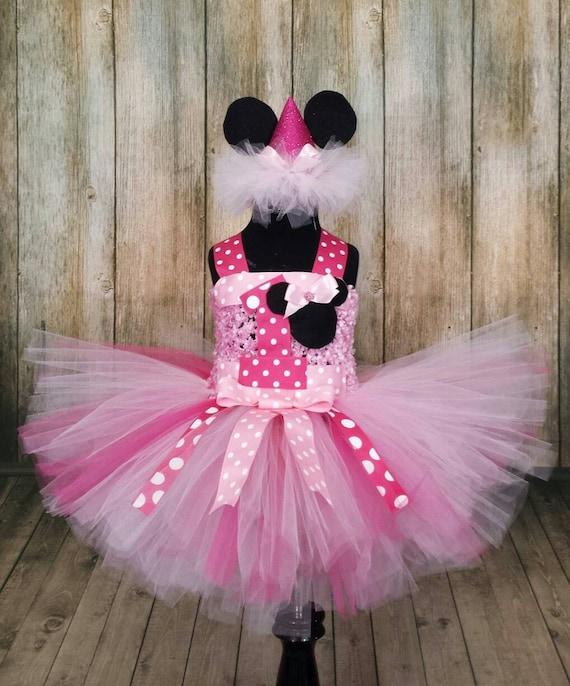 Minnie Mouse First Birthday Tutu Dress