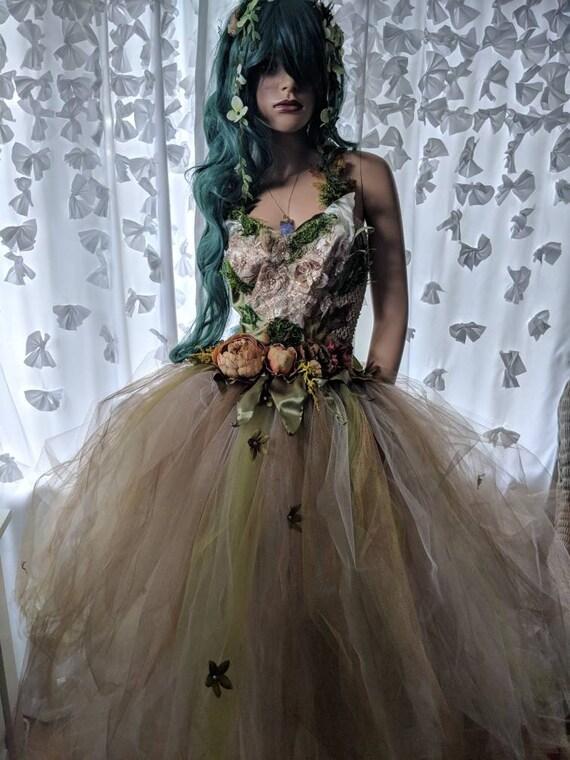 Nature elemental fairy dress Gaia earth fairy costume dress | Etsy