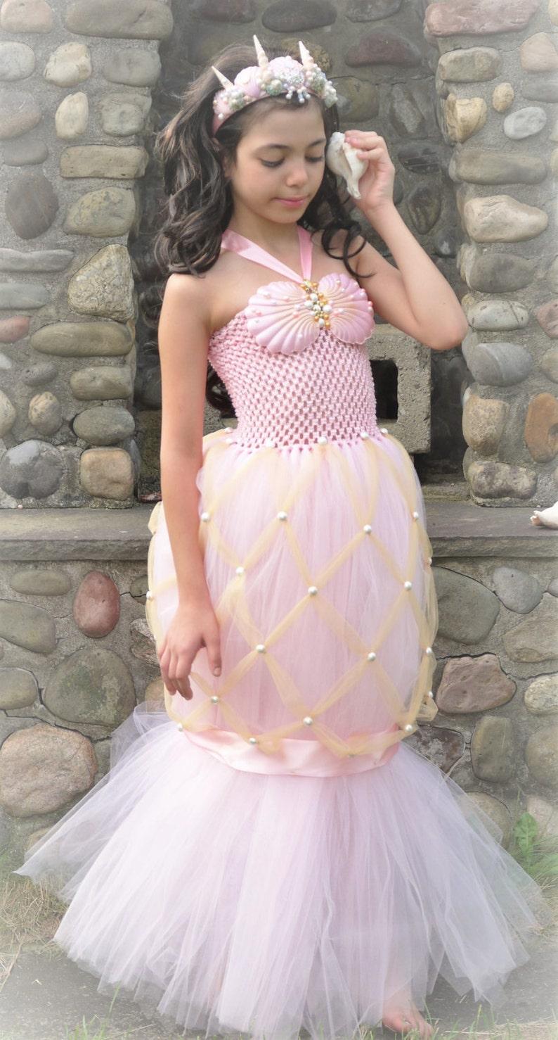 57d674563f552 Mermaid costume dress little mermaid tail tutu dress under | Etsy