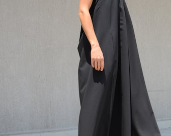 Floor Dress, Long Black Dress, Maxi Dress, Floor Length Dress, Elegant Dress, Gothic Dress, Sexy Dress, Prom Dress, long Dress, Halter Dress