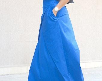 long skirt, modern skirt, fashion skirt, high waist, extravagant skirt, cotton gypsy skirt, long boho skirt, skirt with pockets, high waist