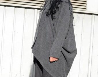 Women's wrap coat, wool coat, long winter coat, wool cape, wrap wool cape, oversized women clothing, size XS to 4XL