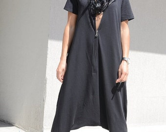 Women jumpsuit, women romper, drape jumpsuit, cotton jumpsuit, loose jumpsuit, wide leg jumpsuit, plus size romper, maxi jumpsuit, jumpsuit