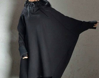 Hip Hop Plus Size Hoodie, Soft Sweatshirt Dress, Extra Long Sleeves Tunic, Best Hoodie Ever, Black Sexy Hoodie, Plus Size Maternity Blouse