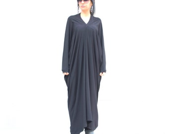 Black Long Sleeve Abaya, Dubai Cotton Abaya, Abaya Maxi Dress, Plus Size Caftan, Boho Dress, Long Formal Dress, Trending Plus Size Fashion
