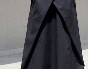 Modern High Waisted Skirt, Loose Gothic Skirt, Bohemian Cotton Skirt, Sexy Oversized Skirt, Futuristic Clothing, Trending Now Oversize Skirt
