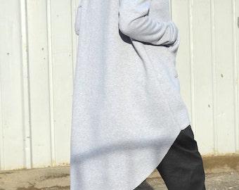 Baggy Asymmetrical Hoodie, Long Sleeves Pullover Hoodie, Extravagant Loose  Hoodie,Hoodie Top, Oversize Hoodie,rending Outerwear Warm Hoodie