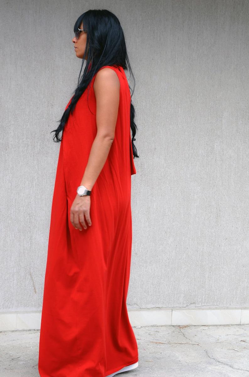 f217fd78b7f6 Maternity Soft Red Long Caftan Maxi Dress with Full Length | Etsy