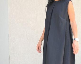 Oversized Dress, Loose Tunic, black loos Dress, Black Midi Dress, Loose Black Dress, Tunic Dress, Oversize Tunic, Summer Dress, Pocket dress