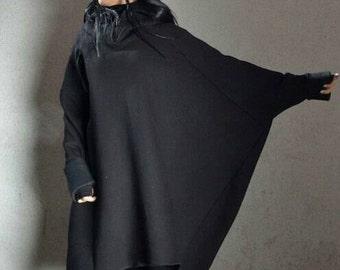 Hip Hop Plus Size Hoodie, Soft Sweatshirt Dress, Extra Long Sleeves Tunic, Best Hoodie Ever, Black Sexy Hoodie, Plus Size Maternity Blouse