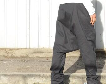 Winter Gypsy Black Pants, Warm Harem Pants, Unisex Comfortable Harem Pants, Tribal Fusion, Tribal Wear,Tribal Pattern,Black Pants,Flow Pants