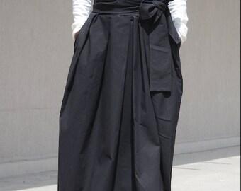 Stylish Cocktail Skirt, High Fashion Avant Garde Black Skirt, Bridesmaid Oversize Skirt, Prom Skirt, Drape Maxi Skirt, Bohemian Skirt,Hippie