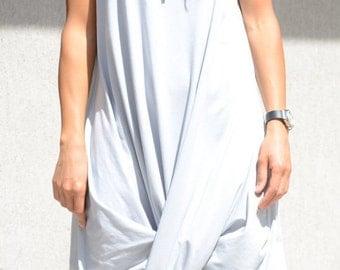 Abaya Maxi Dress with Hoodie, Asymmetric Knee Length Oversize Tunic, Summer Grey Slouchy Top, Slouchy Clothing Baggy Clothing Urban Clothing