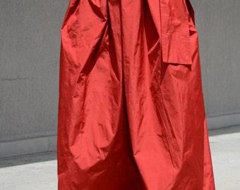High Waist Plated Skirt, Classy Orange Long Skirt, Stylish Asymmetric Long Skirt, Formal Skirt, Oversized Skirt, Circle Skirt, Gothic Skirt
