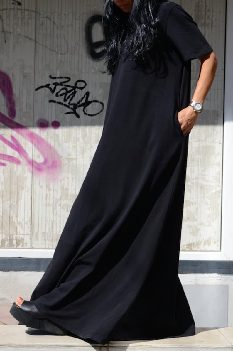 2336c630780 Dubai Plus Size Black Kaftan Dress with Floor Length