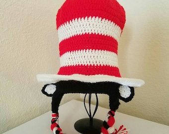Hat in the Hat, Dr. Suess, Crochet Cat in the Hat