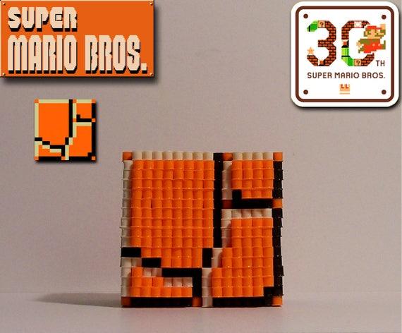SUPER MARIO Bros 3D Boden Block Pixel Perle Figur
