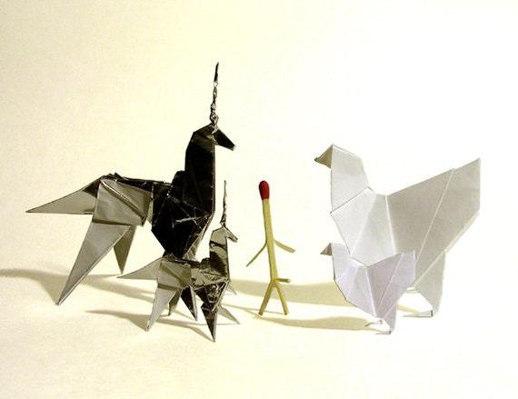 BLADE RUNNER Origami Prop Set Chicken Matchstick Unicorn