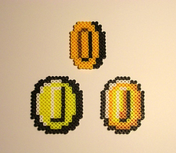 Super Mario Bros Münze Pixel Bead Sprite Etsy