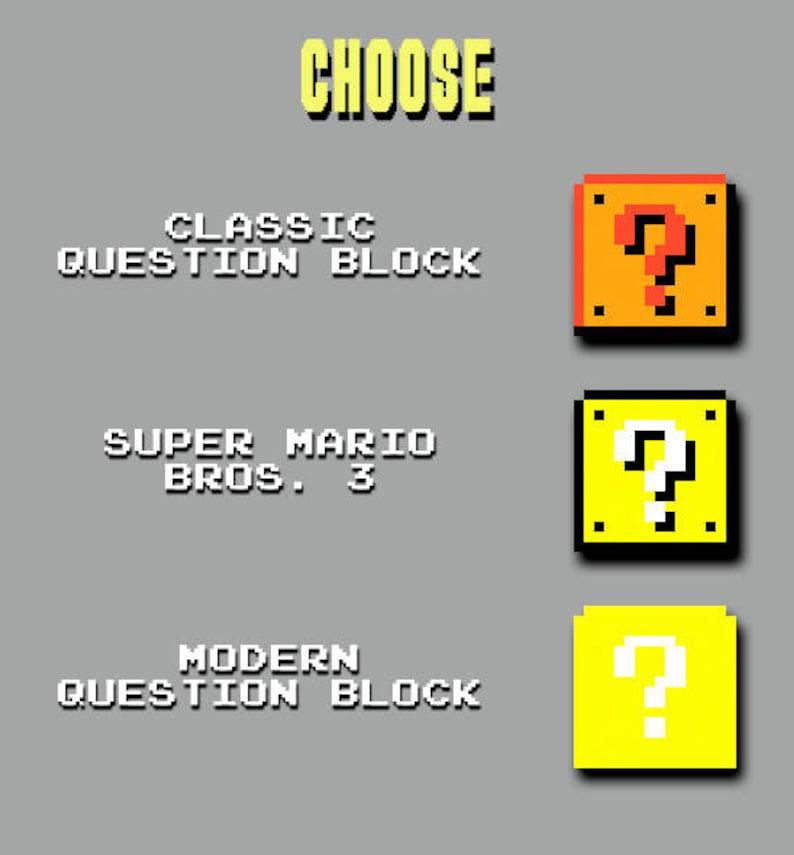 SUPER MARIO BROS. 3D Question Mark Block Pixel Bead Figure