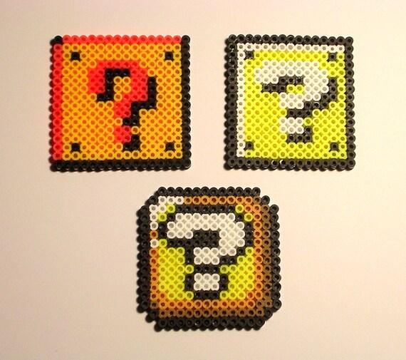 SUPER MARIO Bros Frage Block Pixel Bead Sprite