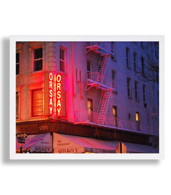 NYC Fotografie Cafe Print Neon Kunst Hipster Foto Print | Etsy