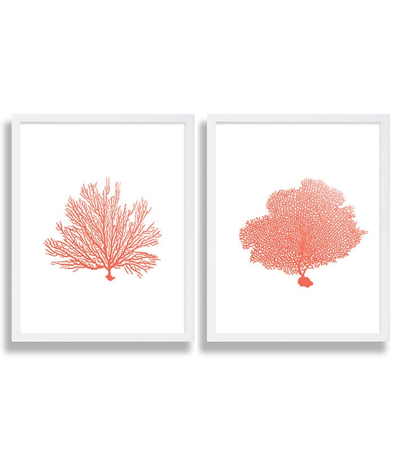 Coral Wall Art Prints Coral Color Decor Coral Prints Water image 0